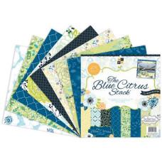 Набор бумаги для скрапбукинга Blue Citrus 30х30 см 24 листа от DCWV