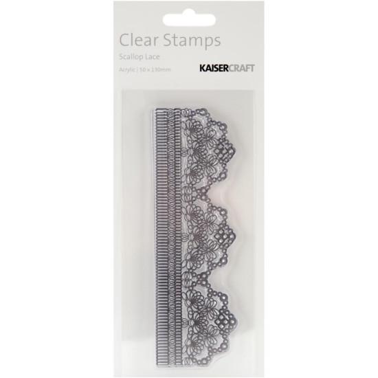 Акриловый штамп Scalloped Lace 13х5 см от Kaisercraft