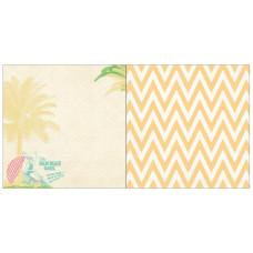 Двусторонняя бумага Palm Beach Girl 30х30 см от Webster's Pages