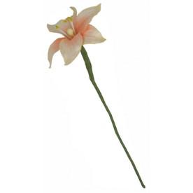 Набор лилий персикового цвета из тутовой бумаги, 5 шт