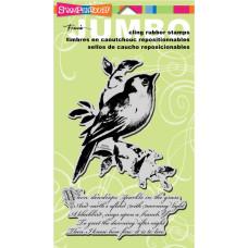 Резиновый штамп Songbird от Stampendous, 2 шт
