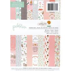 Набор скрапбумаги Peek-a-Boo Girl, 15х20 см, 12 листов, Pebbles