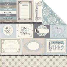 Двусторонняя бумага Melody of Life 30х30 см от Echo Park