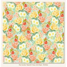 Двусторонняя бумага Beautiful Roses 30х30 см от My Mind's Eye