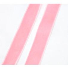 Вельветовая ленточка розового цвета, ширина 16 мм, длина 90 см