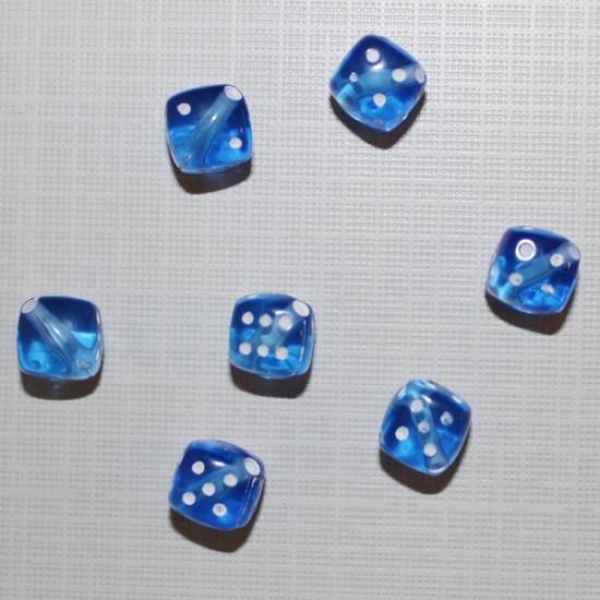 """Акриловая бусина """"Кубик"""" синего цвета, 5 шт"""