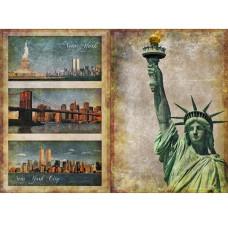 """Декупажная карта """"Манхеттен"""" 44х31 см от компании Cheap Art"""