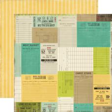 Двусторонняя бумага Tickets Please 30х30 см от компании Echo Park