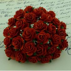 Набор 10 декоративных бумажных роз Red, 10 мм