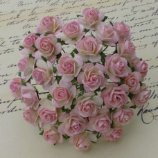 Набор 10 декоративных розочек Baby Pink/Ivory, 10 мм