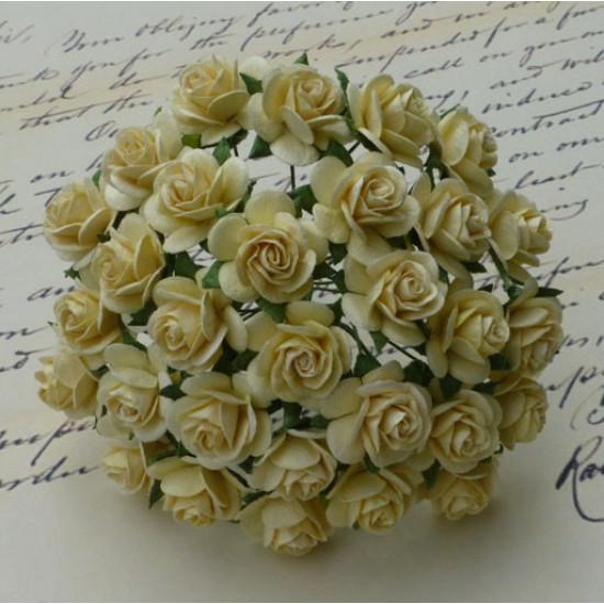 Набор 10 декоративных розочек Cream цвета, 15 мм