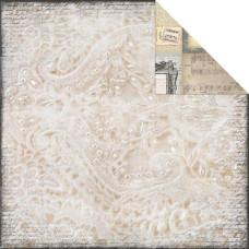 Двусторонняя бумага для скрапбукинга Pearls & Lace 30х30 см от 7 Gypsies