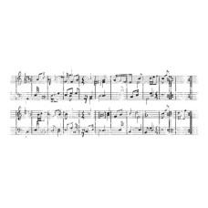 Акриловый штамп Sheet Music 13х5 см от Kaisercraft