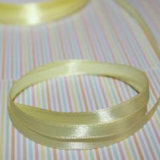 Атласная лента светло-желтого цвета, длина 5 м, ширина 6 мм
