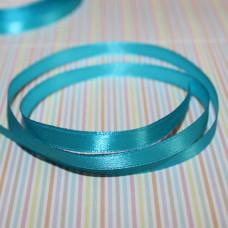 Атласная лента бирюзового цвета, длина 1 м, ширина 6 мм