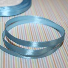 Атласная лента светло-голубого цвета, длина 1 м, ширина 6 мм
