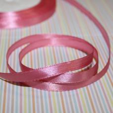 Атласная лента пепельно-розового цвета, длина 1 м, ширина 6 мм