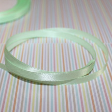 Атласная лента светло-зеленого цвета, длина 1 м, ширина 6 мм
