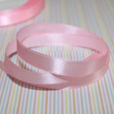 Атласная лента розового цвета, длина 90  см, ширина 10 мм