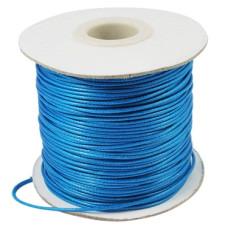 Вощеный шнур ярко-голубого цвета, длина 90 см