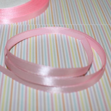 Атласная лента розового цвета, длина 1 м, шириной 6 мм