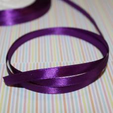 Атласная лента фиолетового цвета, длина 1 м, ширина 6 мм