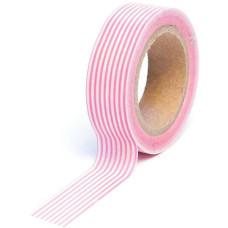 Бумажный скотч Stripe Pink 9 м, 15 мм от компании Queen and Co