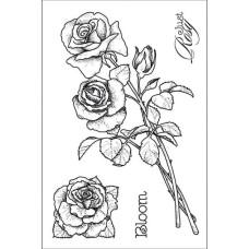 Акриловый штамп Roses от Hot Off The Press
