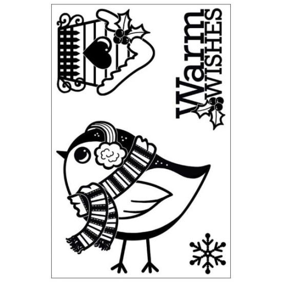 Акриловый штамп Snow Bird от Hot Off The Press