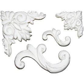 Набор гипсовых украшений Sculpture 4 шт от Melissa Frances