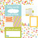 Двусторонняя бумага Easy Breezy 30х30 см от Echo Park