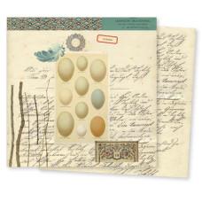 Двусторонняя бумага для скрапбукинга Conservatory: Feather от 7gypsies