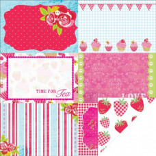 Двусторонняя бумага Strawberry Surprise 30х30 см от Kaisercraft