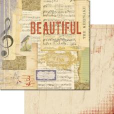 Двусторонняя бумага для скрапбукинга Lille: Beautiful от 7gypsies