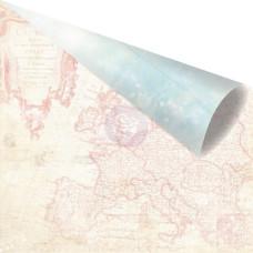 Двусторонняя бумага Destination 30х30 см от компании Prima