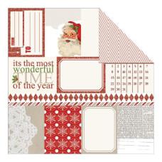 Двусторонняя бумага Notecards With Glitter 30х30 см от Teresa Collins