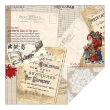 Двусторонняя бумага Postcard 30х30 см от Teresa Collins