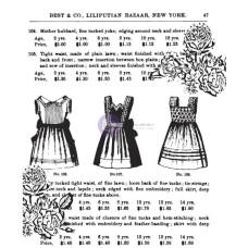 """Акриловый штамп """"Платья и розы"""" Anna Marie 6,5x7,5 см от Prima"""