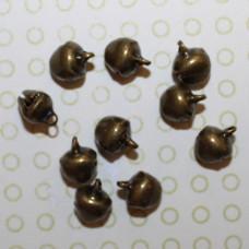 Бронзовые металлические колокольчики, 10х8 мм, 10 шт