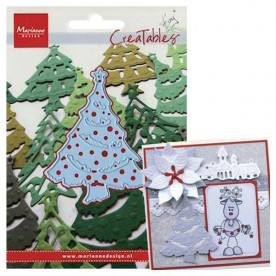 Нож для тиснения и вырезания Christmas Tree, 16х11 см от Marianne Designs