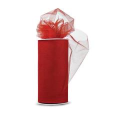 Блестящая декоративная сетка (фатин) Red от Expo, ширина 15 см, длина 90 см