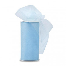 Блестящая декоративная сетка (фатин) Baby Blue от Expo, ширина 15 см, длина 90 см