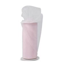 Блестящая декоративная сетка (фатин) Baby Pink от Expo, ширина 15 см, длина 90 см