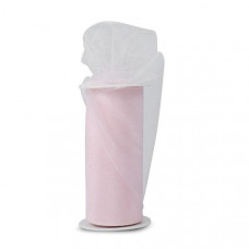 Блестящая декоративная сетка (фатин) Light Pink от Expo, ширина 15 см, длина 90 см