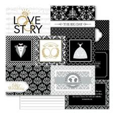 Двусторонняя перламутровая бумага Love Story Snippets 30х30 см от Ruby Rock-It