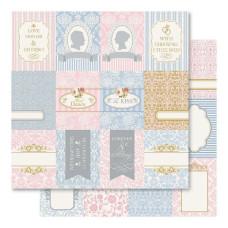Двусторонняя перламутровая бумага Sweet Wedding Tokens 30х30 см от Ruby Rock-It