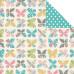 Двусторонняя бумага Be Happy 30х30 см от компании Simple Stories