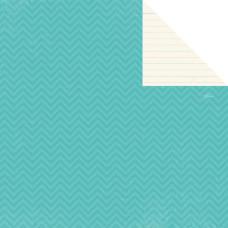 Двусторонняя бумага Teal Chevron 30х30 см от компании Simple Stories