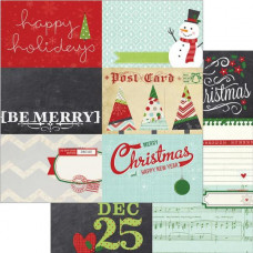 Двусторонняя бумага Horizontal Journaling Cards 30х30 см от Simple Stories