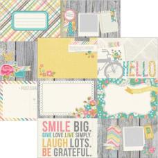 Двусторонняя бумага Journaling Cards 30х30 см от компании Simple Stories
